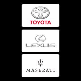 Toyota, Lexus und Maserati Logo