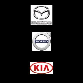 Mazda, Volvo und kia Logo