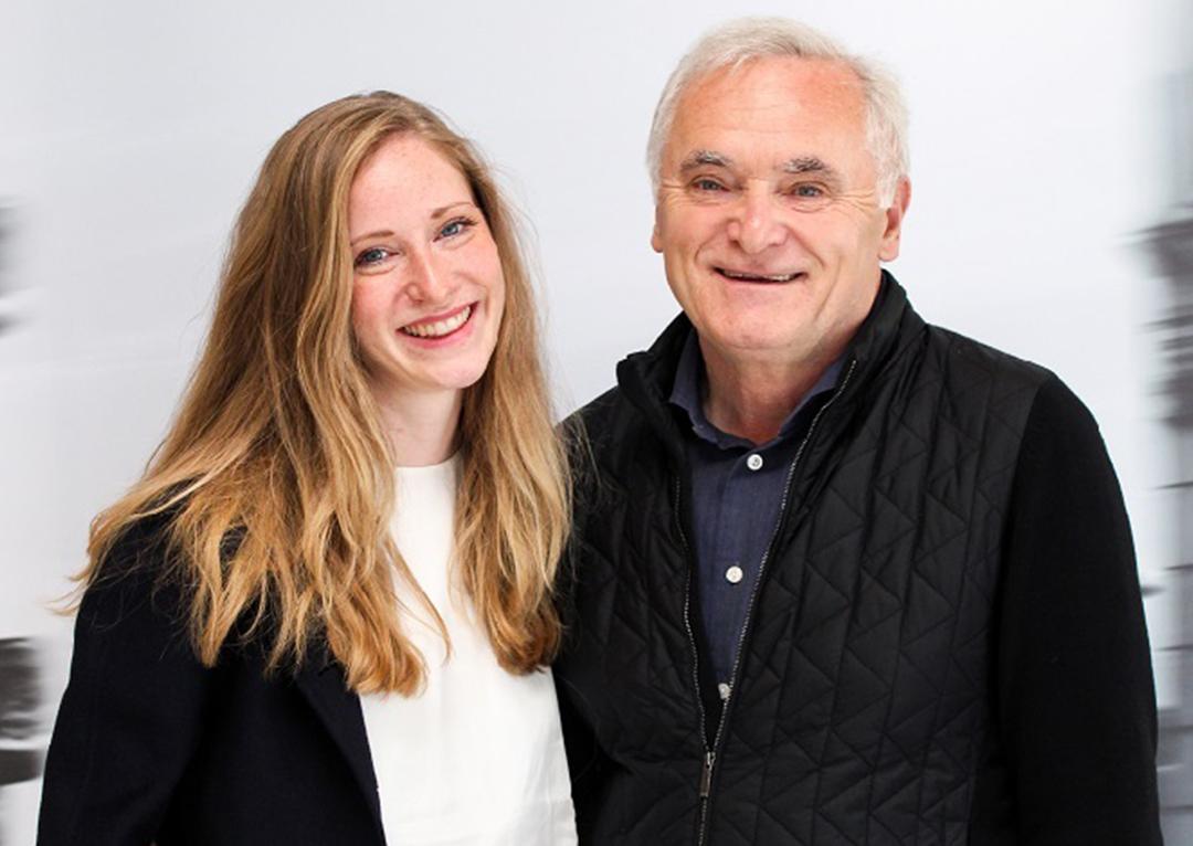 Herr Pfaller Senior und Tochter Victoria