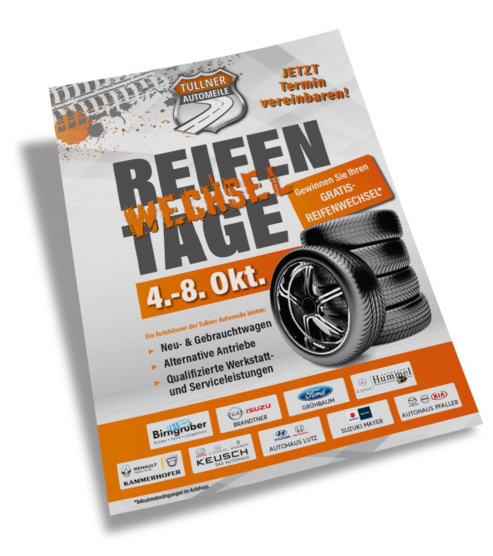 Foto des Titelblattes des Postwurfes Reifenwechseltage