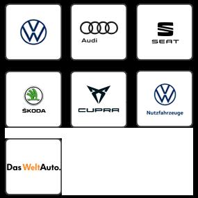 Logos der Automarken des Autohauses Birngruber